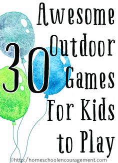 Totally Awesome Outdoor Games for Kids to Play in Summer - fun games that I think both kids will enjoy. Outdoor Activities For Kids, Outdoor Learning, Fun Activities, Children Activities, Preschool Games, Creative Activities, Kids Learning, Activity Games, Fun Games