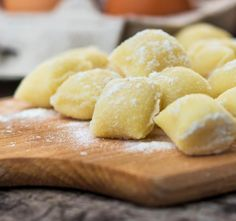 Uncooked homemade gnocchi by DanielVincek on PhotoDune. Uncooked homemade gnocchi on cutting board Queso Ricotta, Dumpling, Gnocchi, Snack Recipes, Potatoes, Chips, Homemade, Fruit, Meals