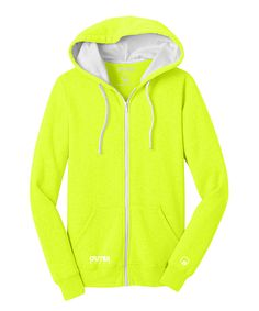 Outer Style Electric Yellow Statement Full-Zip Hoodie - Plus Too by Outer Style #zulily #zulilyfinds