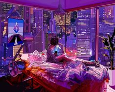 vaporwave ilustration Mad Dog Joness illustrations with a cyberpunk style Cyberpunk City, Cyberpunk 2077, Cyberpunk Kunst, Cyberpunk Aesthetic, Cyberpunk Fashion, Blade Runner, Aesthetic Rooms, Aesthetic Anime, Aesthetic Photo
