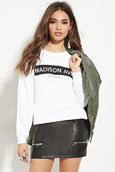 Madison Ave Graphic Pullover | Forever 21 - 2000184785