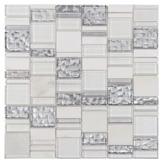 Create a bright new look for your home with this x linear parana light pattern glass mosaic.This linear-shaped glass features long lines and can be used to achieve a bright clean look. Gray Subway Tile Backsplash, Stone Backsplash, Beadboard Backsplash, Kitchen Backsplash, Backsplash Ideas, Tile Ideas, Rustic Backsplash, Hexagon Backsplash, Herringbone Backsplash