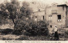 """rue Cortot - Paris 18ème Montmartre - Dans le """"parc"""" du n° 16 de la rue Cortot, le 5 juin 1904."""