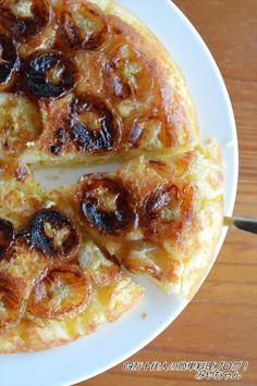 キャラメリゼされたバナナが最高!フライパンで作るカラメルバナナケーキ