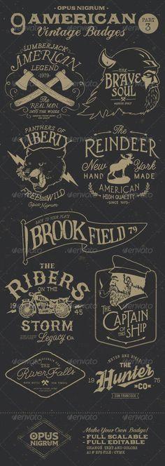 American Vintage Badges Part 3 - Badges & Stickers Web Elements