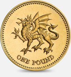 1995 & 2000 One Pound Coin Dragon passant representing Wales Wales Dragon, One Pound Coin, Fifty Pence Coins, Foreign Coins, Coin Design, World Coins, Rare Coins, Coin Collecting, Silver Coins