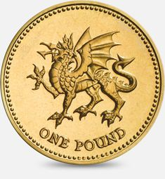 1995 & 2000 'Dragon passant' representing Wales £1 (One Pound) Coin #CoinHunt