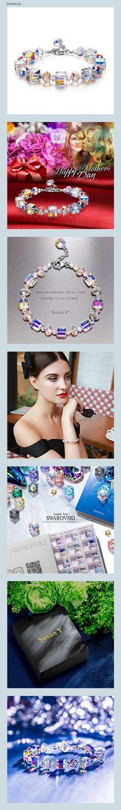 Susan Y Damen Armband Frauen schmuck Kristalle von Swarovski Geschenke für Frauen Mama Damen Freundin Tochter Valentinstag Jahrestag - 14h7