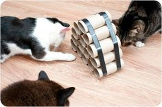 Have your fur baby purring for days by making her one—or all!—of these easy DIY cat toys.