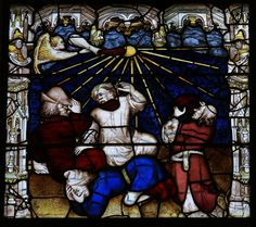 Revelation The fourth vial is poured onto the sun by an angel, four men below try to shield themselves from the heat Revelation 16, York Minster, Cathedrals, Apocalypse, Windows, Painting, Art, Death, Art Background