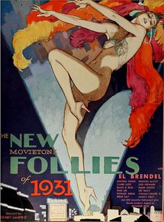 Vintage Film Advert for Follies of 1931