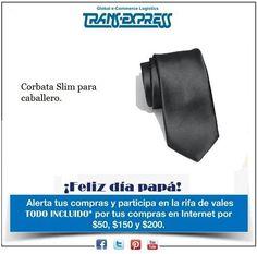 Porque papá también merece estar siempre a la moda, corbata Slim negra. Costo del artículo puesto en El Salvador $18.41 http://amzn.com/B0020BVU60