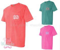 Comfort Color Brand Monogrammed Pocket T-shirt