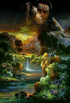 These are our ancestors that watch over us their spiritual picture. Native American Girls, Native American Wisdom, Native American Pictures, Indian Pictures, American Indian Art, Native American Paintings, Native American Artists, Native Indian, Native Art