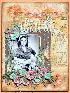 A Retro Canvas using the gorgeous Tranquility Collection! Journal Pages, Van, Retro, Canvas, Projects, Painting, Collection, Layouts, Sewing