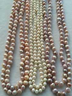 Sweet-water Pearl three colors about 1.60cm longness