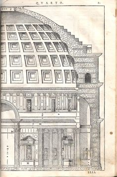 Old Pantheon Drawing Old pantheon architecture drawing illustration from art rome italy classical art history<br> The ed., a reissue of Carampello's ed. of see Fowler Architecture Drawing Plan, Architecture Drawing Sketchbooks, Roman Architecture, Vintage Architecture, Classic Architecture, Historical Architecture, Ancient Architecture, Architecture Details, Landscape Architecture