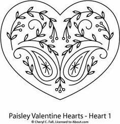 Paisley Hearts 3-Piece Pattern Set