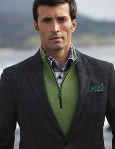 Keep it fresh with a v-neck sweater under a sport coat. | From ...