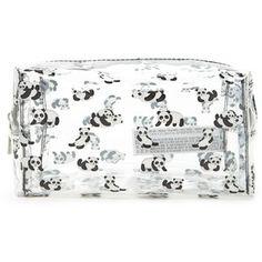 09a27aaf9612 Forever21 Panda Clear Makeup Bag