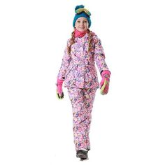 Dollplus 2018 Winter Outdoor Children Set Windproof Ski Jackets + Pants Kids  Snow Sport Sets Warm Skiing Suit for Girls Clothes 685370c57