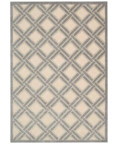 CLOSEOUT! Nourison East Hampton Diamond Check Ivory 7'9