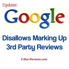Google disallows marking up 3rd party reviews on your website. What does this mean for the future of reviews for your business? #google #reviewmanagement #5starreviews #Yelp   #seo     #socialmedia  #smm  #marketing  #startup  #growthhacking  #branding  #business  #marketingtips  #content http://5-star-reviews.com