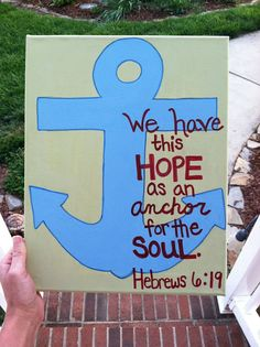 Anchor Bible Verse Painting made to order by AnnaCarolinesCrafts