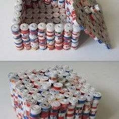 Image result for Recycled newspaper and magazine projects
