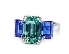 Sapphire and Tanzanite Ring