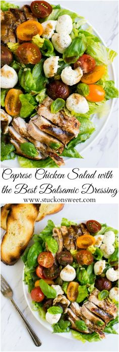 Caprese Chicken Salad - Summer recipe that's healthy and delicious! | www.stuckonsweet.com