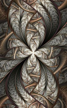 zentangle - amazing depth in this Silver and Gold design