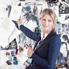 Jewellery designer Charlotte Lynggaard in front of her always inspirational wall of moodboards #finejewellery #goldsmith #designer #creative #universe #inspiration #shapes #colours #gold #diamonds #olelynggaard #olelynggaardcopenhagen #charlottelynggaard @charlottelynggaard_dk