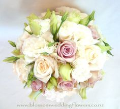 green Lisianthus and dusky colours.