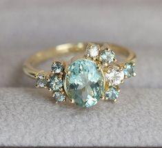 Custom Gemstone Cluster Ring Deposit by capucinne on Etsy: