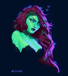 "Johnny Morrow on Instagram: ""Poison Ivy . . . #art #artwork #painting #drawing #illustration #comics #fanart #batman #dc #poisonivy #digitalpainting #digitalart #artist…"""