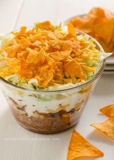 Sałatka chili con carne z nachosami - Mirabelkowy blog
