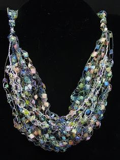 Part One!  Here is the first part of the demo on how to create this beautiful sparkly crochet necklace. Crochet necklaces were the trend ...