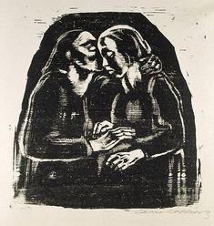 Maria and Elisabeth, (1928) by Kathe Kollwitz :: Art Gallery NSW