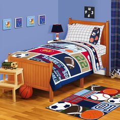 sport bed room ideas on pinterest bedding sets nfl and the most awesome sports bedroom themes terrys fabrics s blog