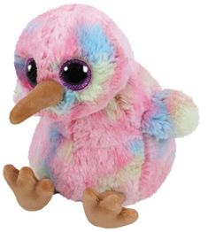 Ty Beanie Boos Kiwi the Pink Bird Plush Regular Soft Big-eyed Stuffed Animal Collection Doll Toy. Ty Beanie Boos, Beanie Boo Dogs, Ty Boos, Beanie Buddies, Big Eyed Stuffed Animals, Ty Peluche, Panda Dog, Bulletins, Pink Bird