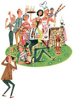 1957 illustration by Ferguson Dewar | Flickr - Photo Sharing!