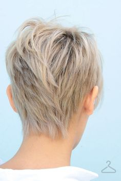 Back view, you never see a back view! Very important to show your stylist. short hair and blonde