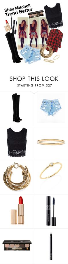"""""""Shay Mitchell Trend Setter"""" by girlie87 ❤ liked on Polyvore featuring Aquazzura, Sans Souci, Kate Spade, Rosantica, Sydney Evan, Estée Lauder, Christian Dior, Bobbi Brown Cosmetics and NARS Cosmetics"""