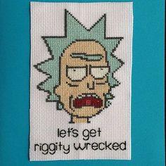 Stitchgasm Ofcourseknotshop does Rick & Morty