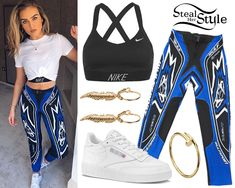 Find out where your favorite celebrities buy their clothes and how you can get their looks for less. Little Mix Outfits, Little Mix Style, Stage Outfits, Girl Outfits, Long Sleeve Bikini Top, Perrie Edwards Style, Red Lace Bodysuit, Womens Workout Outfits, Her Style