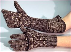 A gig driver could keep his forearms warm by rolling up the tops of these unusual gloves.