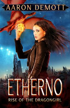 Cover for my latest web serial (read free online) Etherno: Rise of the Dragongirl.  Isn't it pretty? (https://www.bsquirreldesign.com/ did the cover. They did a great job!)