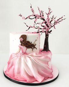 Cute Birthday Cakes, Beautiful Birthday Cakes, Gorgeous Cakes, Pretty Cakes, Cute Cakes, Amazing Cakes, Birthday Desserts, Fondant Birthday Cakes, Birthday Cake Designs