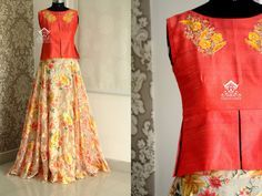 Peachy floralTo buy this outfit  mail to varunigopen@gmail.comwhatsapp 9849125889 13 September 2016